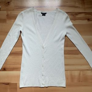 Theory off white cardigan